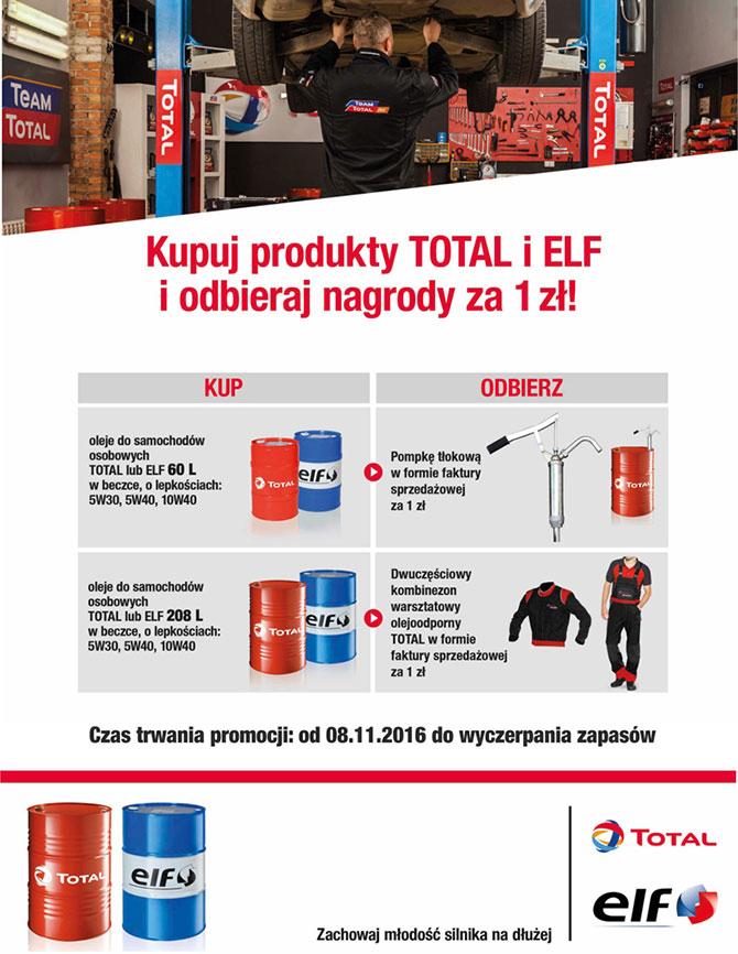 Promocja Olej TOTAL i ELF